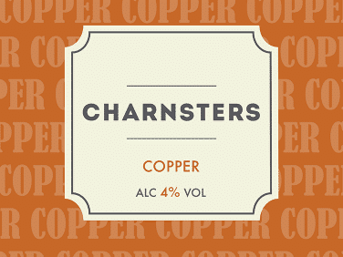 Copper pump clip designs for the collaborative brew between Charnwood Brewery and Brewsters brewery.