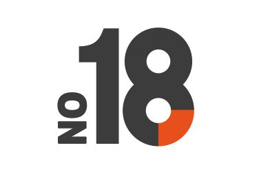Logo for No.18, an office space based in Loughborough.