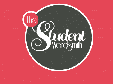 The Student Wordsmith branding, a platform for poetry.