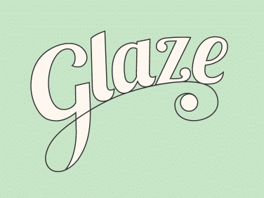 Logo for glaze, a cake based company in Birmingham.