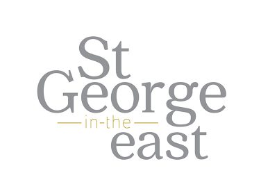 Brand identity and logo designed for St George in the East church in the East End of London