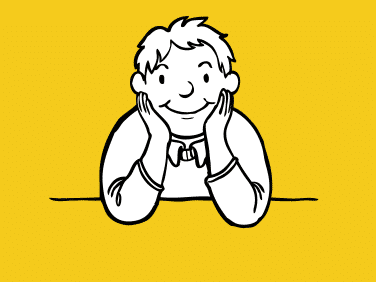 Illustrations of a happy boy for ADHD Solutions, a charity working with children, based in Leicester, Leicestershire