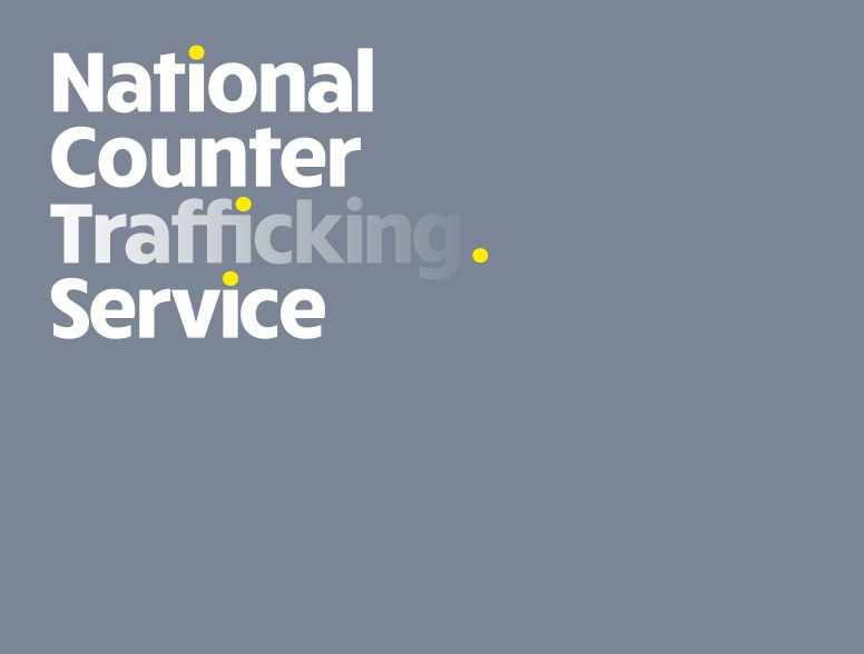 Brand identity and design for National Counter Trafficking Service, a subbrand of the charity Barnardo's