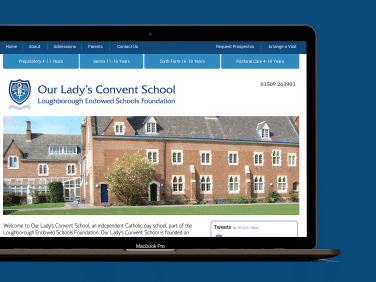 Website for our Lady's Convent School, a school based in Loughborough.