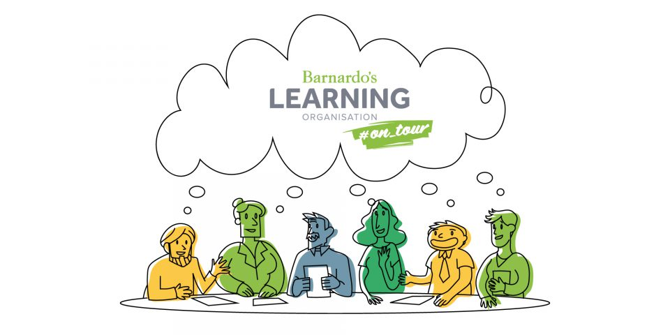 Barnardos Learning Organisation logo and illustration