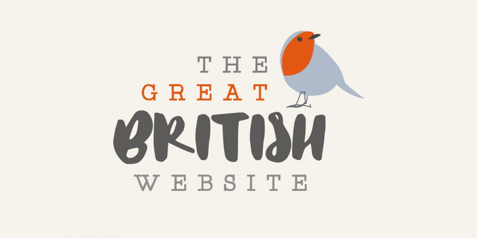 Brand identity and web design for The Great British Website, an ecommerce website selling British food and produce.