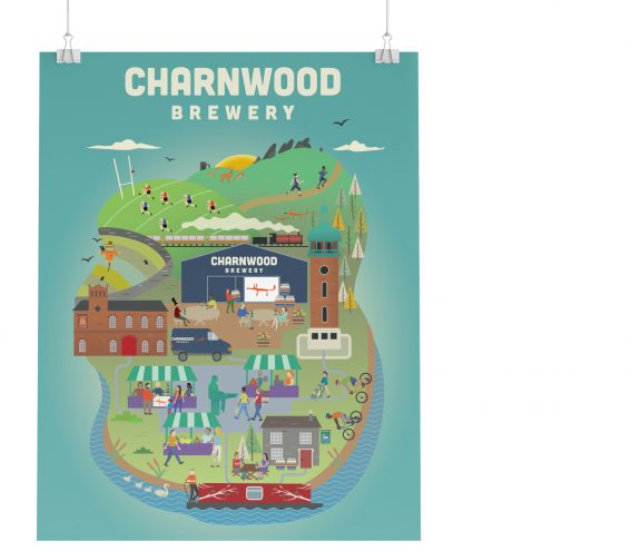 Illustrative Charnwood Brewery Poster
