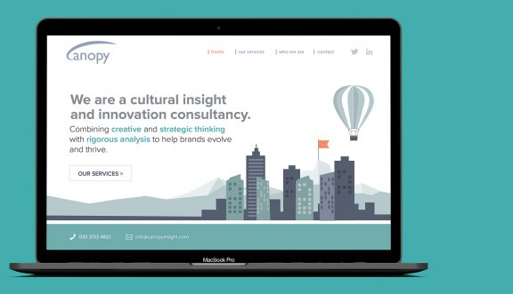 Web design for brand communication consultants Canopy Insight, based in Tetbury