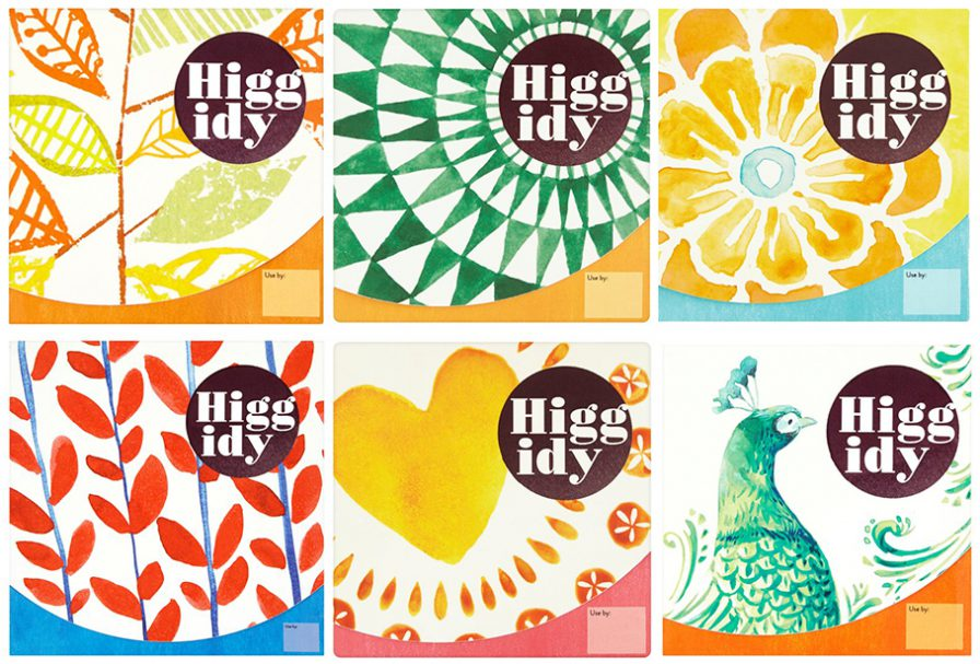 Packaging and branding for Higgidy, a chocolate company.