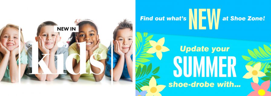 Two Shoezone email adverts for Kids shoes and updating the summer shoe-drobe