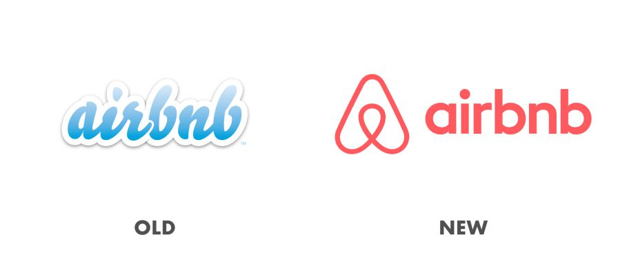 Successful rebrands - why they are successful. Old and new airbnb logos