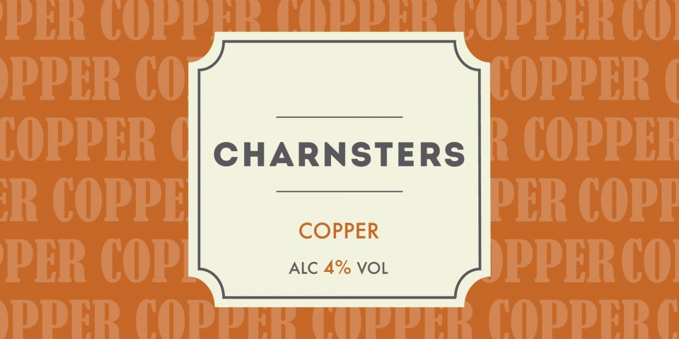 Pump clip for Charnsters, a collaborative brew by Charnwood Brewery and Brewsters.