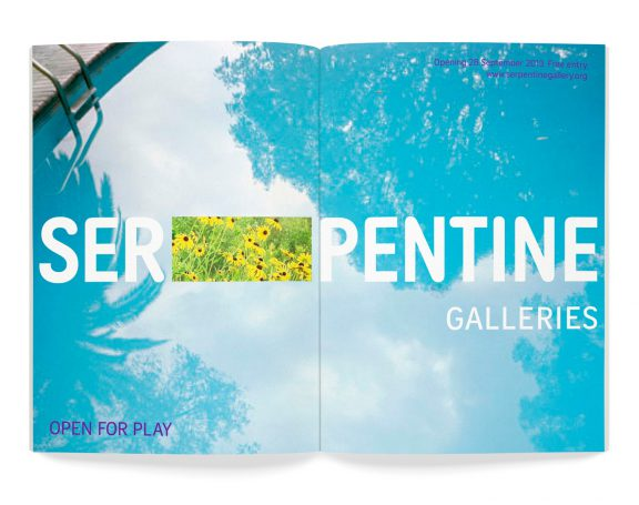 Flexible branding for the Serpentine gallery based in London.