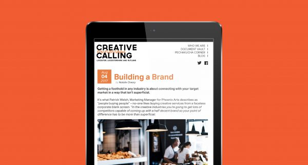 Creative calling a Leicestershire based blog showing events and news.