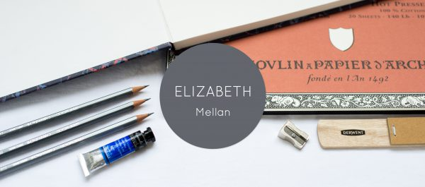Website banner for Elizabeth Mellan, a Hampshire based artist.
