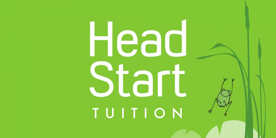 Head Start Tuition logo and frog illustration