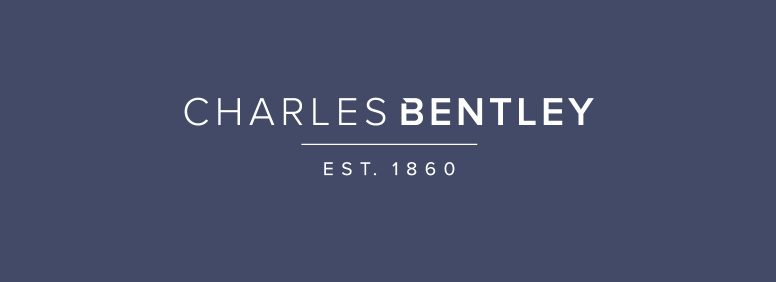 Brand and logo for Charles Bentley, a brush wear manufacturer based in Loughborough.