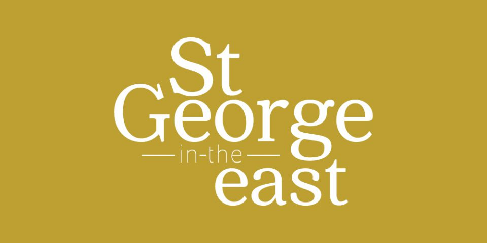 Church branding for St George in the East - a church community in London.