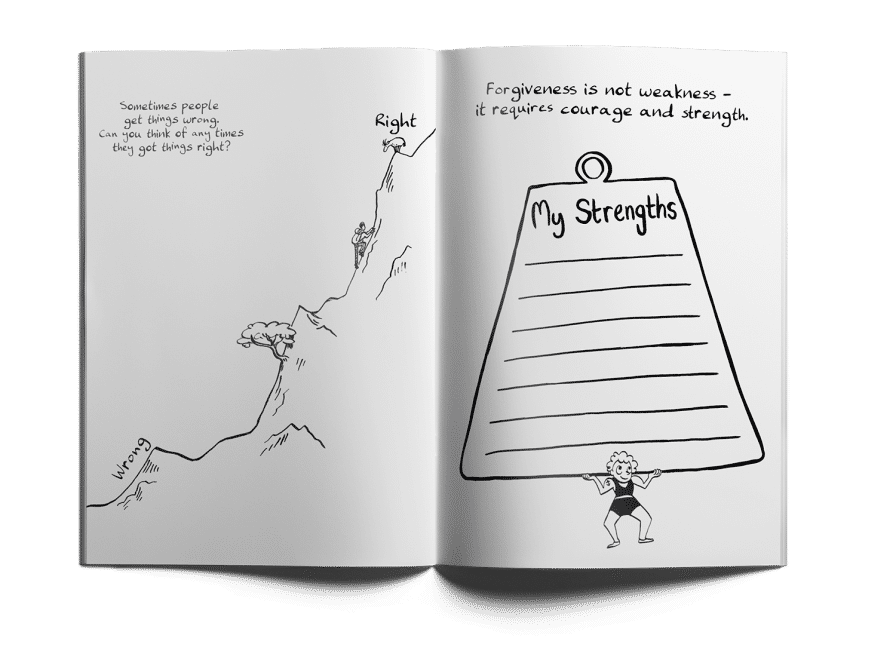 Tough stuff journal for At a loss, support people who have experience loss.