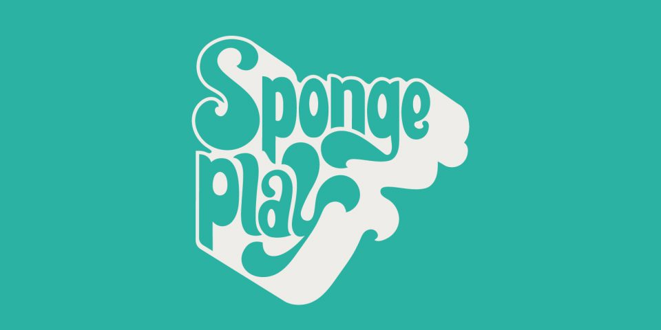 Sponge Play logo design for Turned on its head - an 1970's style typographic brand.