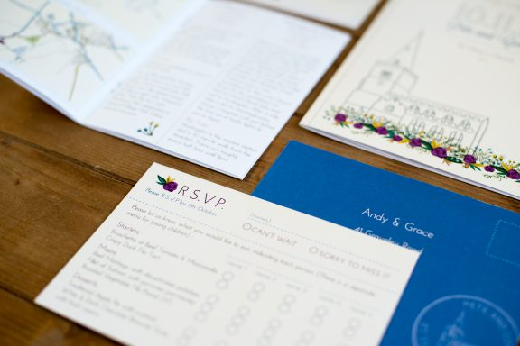 Wedding stationery - authentic design and branding