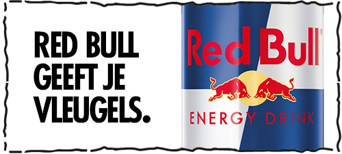 Dutch web banner ad for the energy drink brand Red Bull